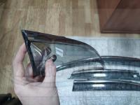 Оригинальные Дефлекторы окон, Ветровики с молдингом из нержавеющей стали для Lexus NX 2014+