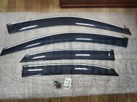 Оригинальные Дефлекторы окон, Ветровики с молдингом из нержавеющей стали для Lexus RX270 2010+