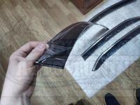 Оригинальные Дефлекторы окон, Ветровики с молдингом из нержавеющей стали для Toyota Camry 2018+ V70