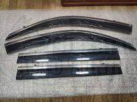 Оригинальные Дефлекторы окон, Ветровики с молдингом из нержавеющей стали для Toyota LC Land Cruiser Prado 2010+