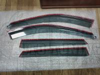 Оригинальные Дефлекторы окон, Ветровики с молдингом из нержавеющей стали для Mazda CX-5 2017+ кузов
