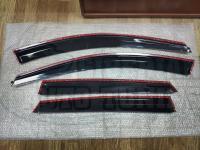 Оригинальные Дефлекторы окон, Ветровики с молдингом из нержавеющей стали для Honda CR-V 2007-2011
