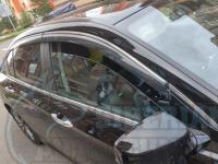 Оригинальные Дефлекторы окон, Ветровики с хромированным молдингом для Honda Accord 9 2014-2020