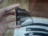Оригинальные Дефлекторы окон, Ветровики с хромированным молдингом для Honda Accord 7 2002-2008