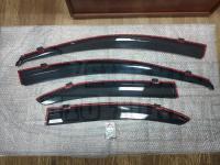 Оригинальные Дефлекторы окон, Ветровики с хромированным молдингом для Honda Accord 8 2008-2013