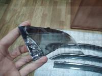 Оригинальные Дефлекторы окон, Ветровики с молдингом из нержавеющей стали для Toyota Corolla 2014-201