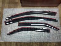 Оригинальные Дефлекторы окон, Ветровики с молдингом из нержавеющей стали для Toyota Camry 2012-2018