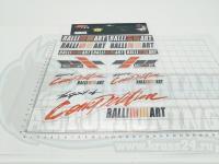 Набор Наклеек Ralli Art Mitsubishi на листе светоотражающие A4