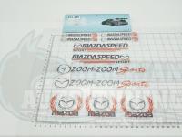 Набор Наклеек Mazda Speed на листе светоотражающие A4