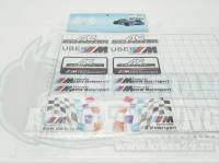 Набор Наклеек BMW Motors Sport на листе светоотражающие A4