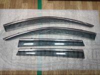 Оригинальные Дефлекторы окон, Ветровики с молдингом из нержавеющей стали для Volkswagen Touareg 2010