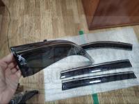 Оригинальные Дефлекторы окон, Ветровики с молдингом из нержавеющей стали для Nissan X-Trail 2014-2020