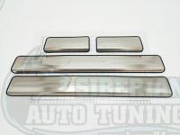 Накладки на пороги металлические Ford Ecosport 2013-2017