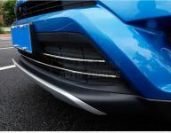 Хромированные накладки на низ решетки Toyota Rav4 2016-2019