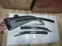 Оригинальные Дефлекторы окон, Ветровики с хромированным молдингом для Toyota Camry 2012-2018 V50 V55