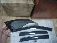 Оригинальные Дефлекторы окон, Ветровики с хромированным молдингом для Honda CR-V 2007-2012