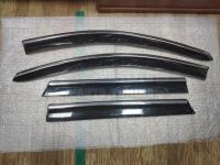 Оригинальные Дефлекторы окон, Ветровики с молдингом из нержавеющей стали для Nissan Qashqai 2014-2020