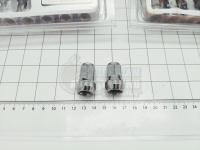 Закрытые Гайки TopFit + ключ (сталь), шаг 1.5 и 1,25, Хром - 20+1 штук