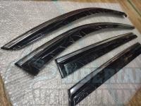 Оригинальные Дефлекторы окон, Ветровики с хромированным молдингом для Mazda CX 9 2015+