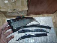 Оригинальные Дефлекторы окон, Ветровики с хромированным молдингом для Toyota Corolla 150 2007-2012