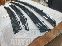 Honda Civic 8 4D 2006-2012 FD Оригинальные Дефлекторы окон, Ветровики с хромированным молдингом Mugen