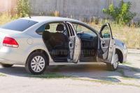 Volkswagen Polo 2009г+ Накладки на внутренние пороги дверей