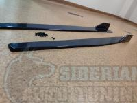 Универсальные Канарды порогов боковые 120 см черные