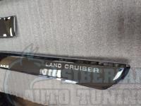 Land Cruiser 200 2016-2021 Хромированные молдинги на двери с логотипом  (4 шт)