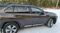 Toyota Rav4 2019+ кузов XA50 Оригинальные Дефлекторы окон, Ветровики с хромированным молдингом 6 частей