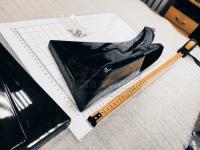 Универсальные задние угловые Элероны 2X черный глянец (Комплект)