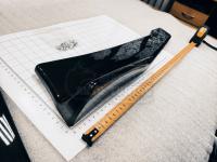 Универсальные Канарды порогов боковые 480мм черный глянец (Комплект)