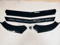 Универсальный Сплиттер передний составной из 4 частей черный глянец
