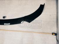 Сплиттер, Элероны переднего бампера составной Универсальный тип A черный глянец