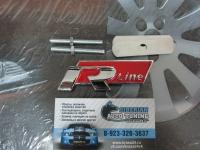 Эмблема алюминиевая для решетки радиатора R line для автомобилей Volkswagen