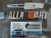 Эмблема алюминиевая для решетки радиатора Ralli art для автомобилей Mitsubishi