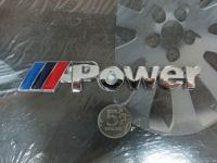 Алюминиевый шильдик с клеевой основой Power для автомобилей BMW