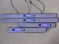 Светодиодные накладки на пороги Toyota Corolla 2001-2006 (2)
