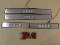 Светодиодные накладки на пороги Volkswagen Golf 6 2008 - 2012