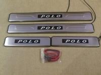 Светодиодные накладки на пороги Volkswagen Polo 5 2009 - н.в.