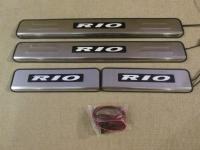 Светодиодные накладки на пороги Kia Rio 2005 - 2015
