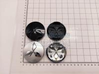 Ступичные колпачки заглушки на диски ЦО Mitsubishi серебро/черные 60/54/10 мм SL006 (Цена за 4шт)