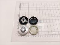 Ступичные колпачки заглушки на диски ЦО Renault серебро/черные 57/50/11 мм (Цена за 4шт)
