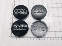 Ступичные колпачки заглушки на диски ЦО Audi черные 60/58/9 мм 4B0601170 (Цена за 4шт)