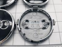 Ступичные колпачки заглушки на диски ЦО Audi черные 61/58/10 мм 4M0601170JG3 (Цена за 4шт)