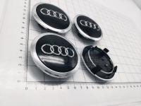 Ступичные колпачки заглушки на диски ЦО Audi черные 69/54/12 мм 4B0601170A (Цена за 4шт)