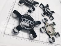 Ступичные колпачки заглушки на диски ЦО Audi звезда черные 135/60/13 мм 8R0601165 (Цена за 4шт)