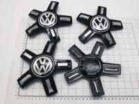 Ступичные колпачки заглушки на диски ЦО Volkswagen звезда черные 160/55/17 мм C1035K166 (Цена за 4шт)