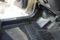 Renault Duster 2010-2014 Накладки на ковролин порогов передние большие