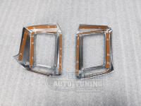 Хромированные накладки на воздуховод центральный Toyota Rav4 2016-2018