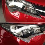 Toyota Rav4 2013-2015 Хромированные накладки под фару маленькие